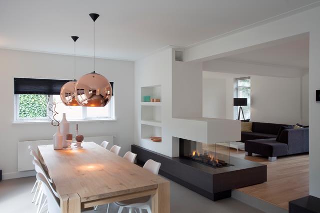 Gashaard project bavel van der pluijm - Woonkamer en moderne keuken ...